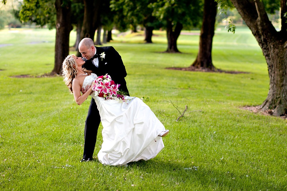 Bride and Groom at Blue Ridge Country Club