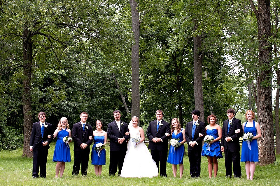 Wedding Party photo at Littlestown Community Park