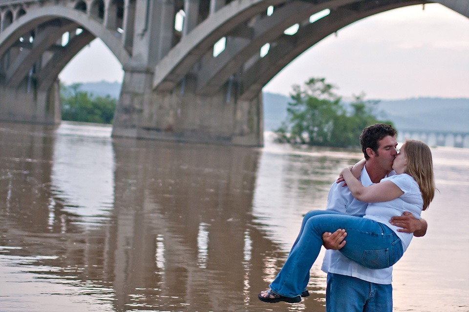 Couple in front of Wrightsville Bridge, Columbia, PA