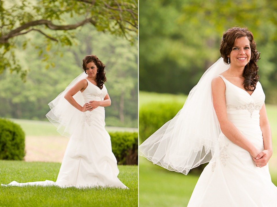 Bridal portraits at wedding in Lancaster County
