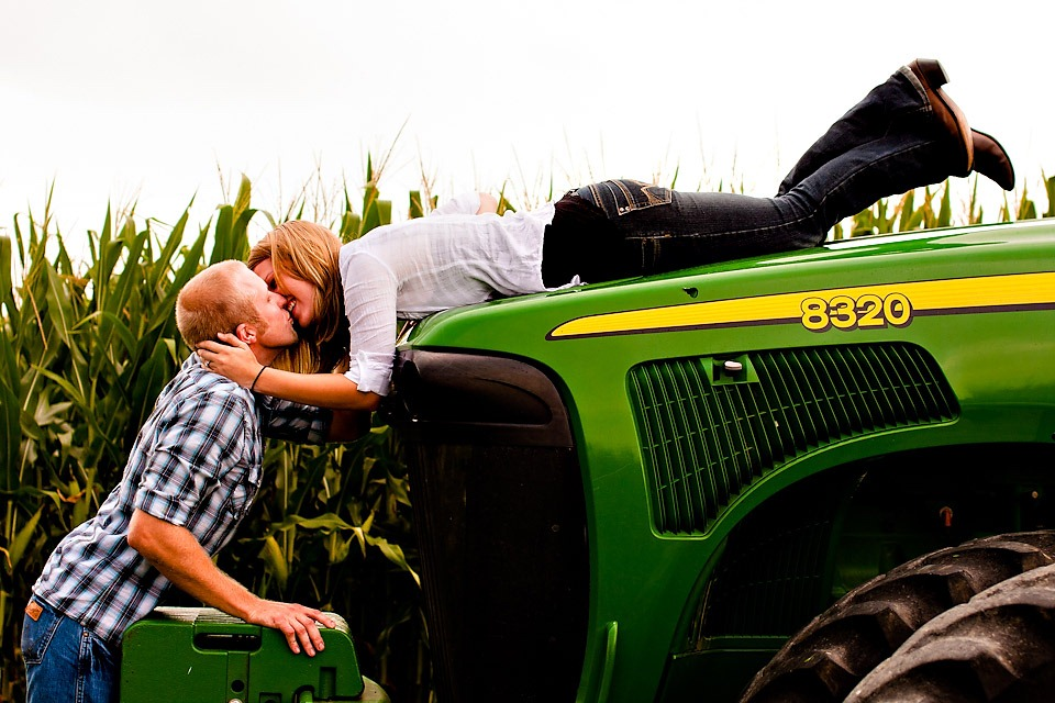 Tractor Engagement Photography