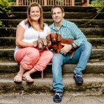Portraits: Shaina and George are expecting (plus their doggies!)