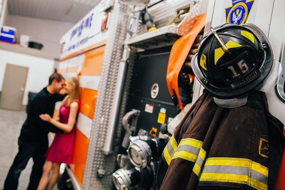 Firefighter Engagement Photographers