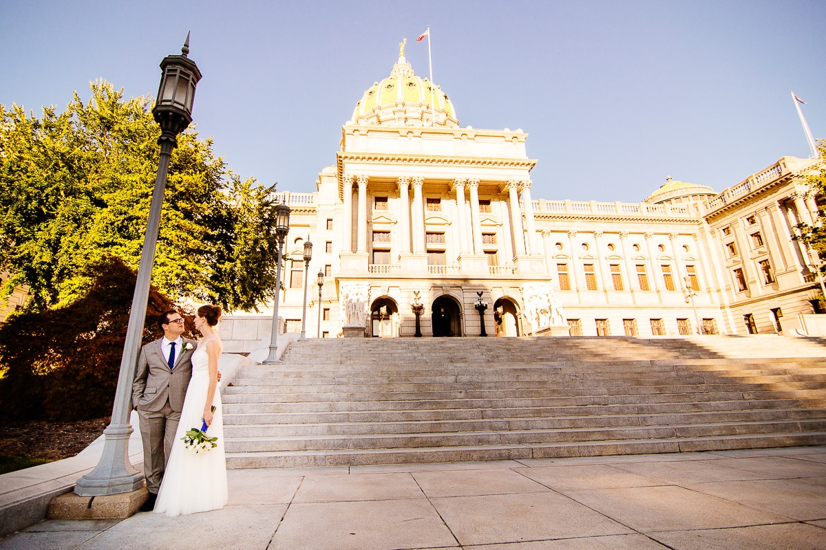 Pennsylvania State Capitol Wedding Photography