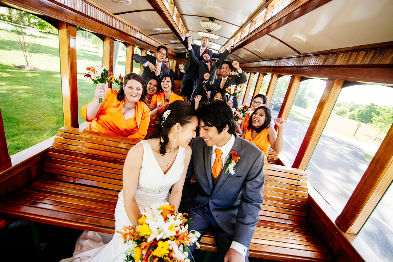 Hershey Trolley Wedding Photographers