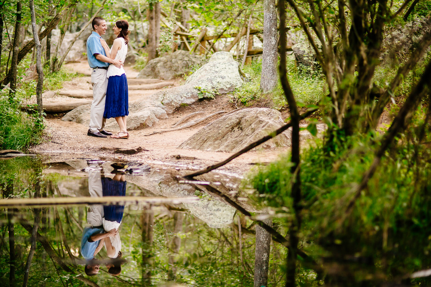 Great Falls National Park Engagement Photography